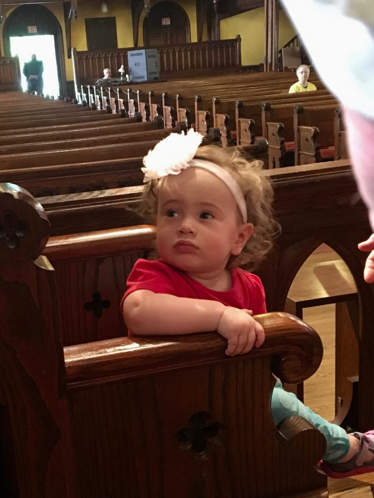 Child in pew